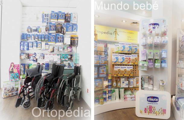 Instalaciones zona ortopedia y espacio mundo bebé Farmacia Marina - Ortopedia García Caudevilla . Zaragoza